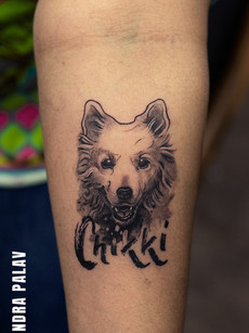 Dog Portrait Tattoo - Lovliest member in the family