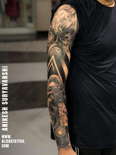 Full Sleeve Realistic Tattoo