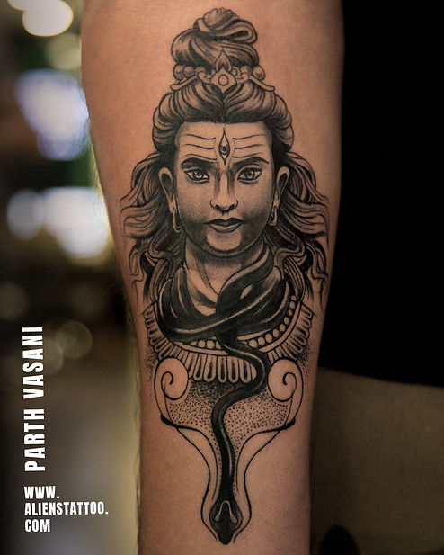 Shiva Tattoo At Aliens Tattoo India_