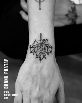 Aliens Tattoo - Arm Tattoo - Leaf Tattoo