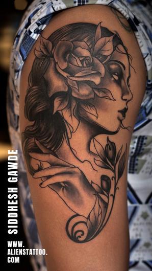 Siddhesh Gawde Realism Arm-tattoo
