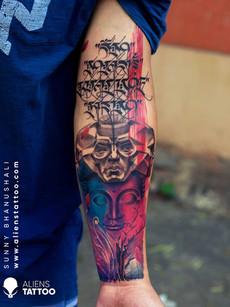 buddha-tibetan-script-tattoo-colour-tatt