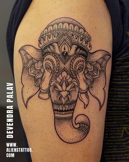 Aliens Tattoo - Arm Tattoo - Ganesha Tattoo