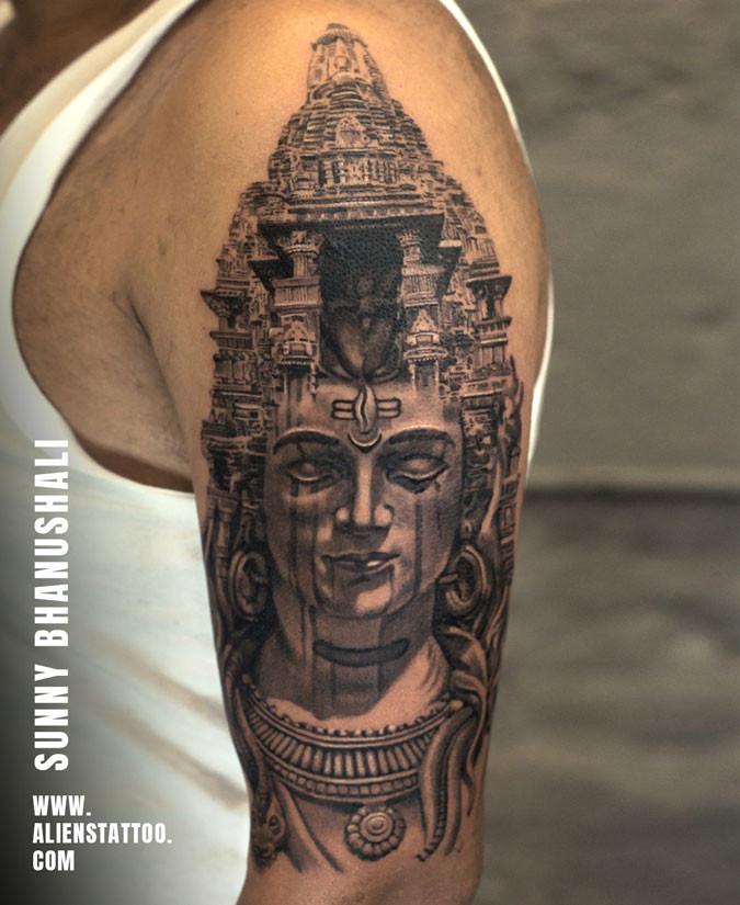 Shiva Tattoo At Aliens Tattoo India_