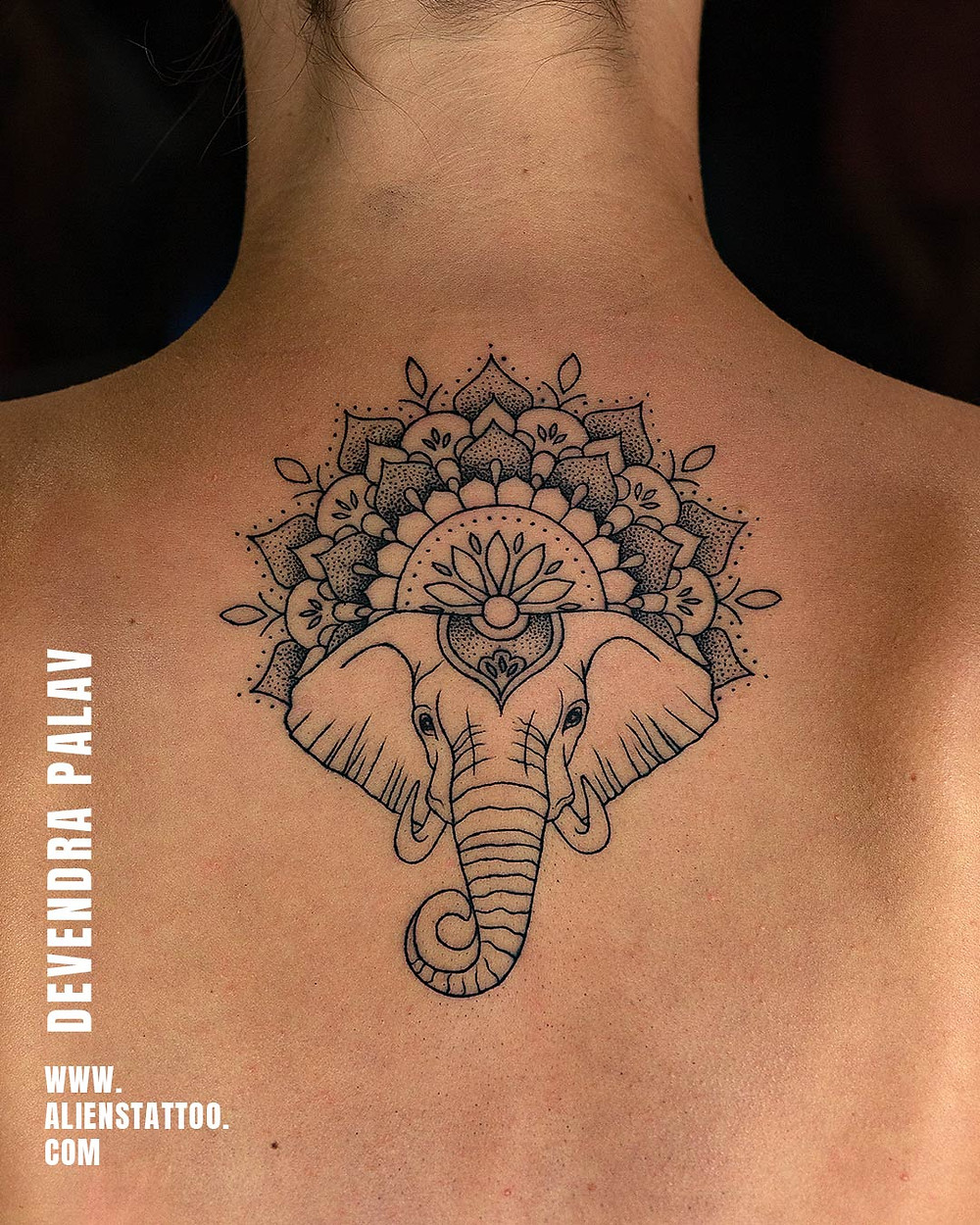 Elephant Tattoo - Animal Tatoo - Aliens Tattoo