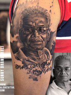 Portrait Tattoo At Aliens Tattoo India_