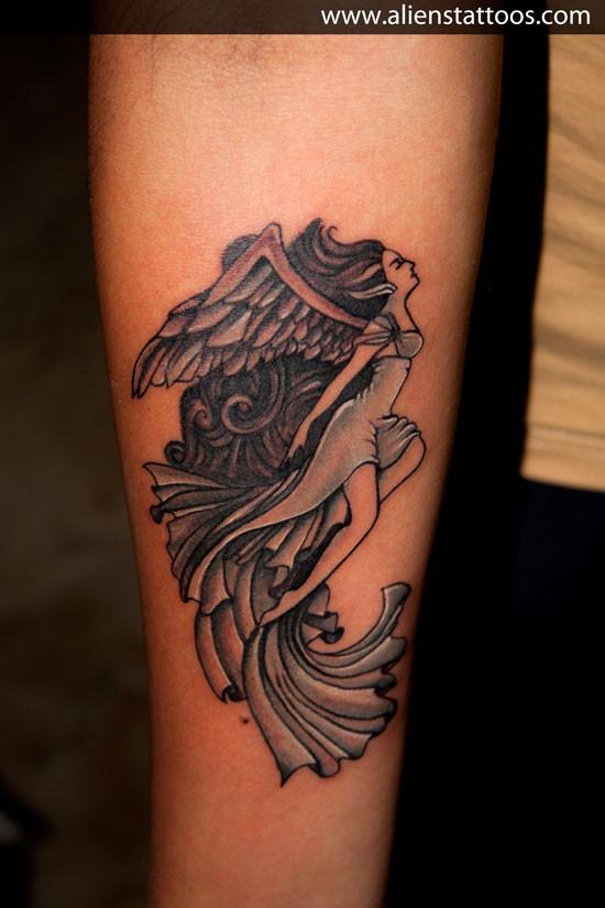 Aliens Tattoo - Virgo Tattoo  - Zodiac Tattoos