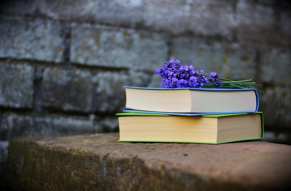 Books on a ledge - Inspiring books
