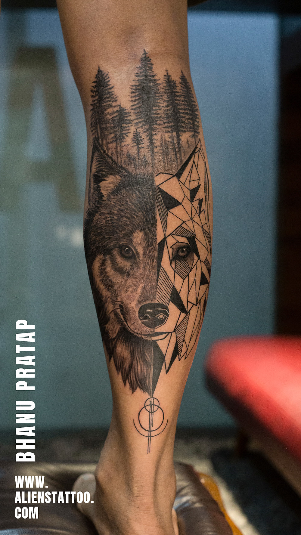 Wolf Tattoo - Animal Tattoo - Aliens Tattoo
