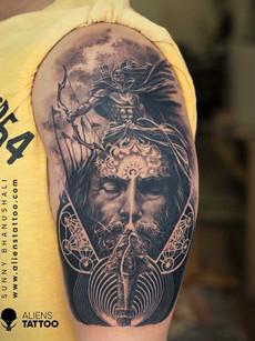 arjuna-portrait-tattoo-realistic-mytholo