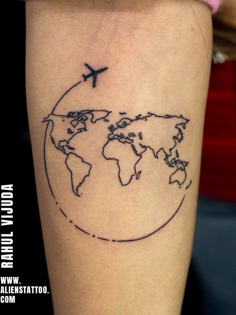Travel Tattoo Aliens Tattoo India
