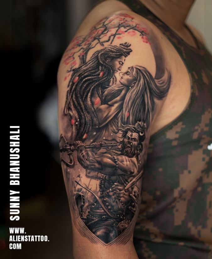 Lord Shiva Warrior Tattoo At Aliens Tatt