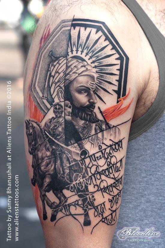 Chatrapati Shivaji Tattoo by Sunny Bhanushali