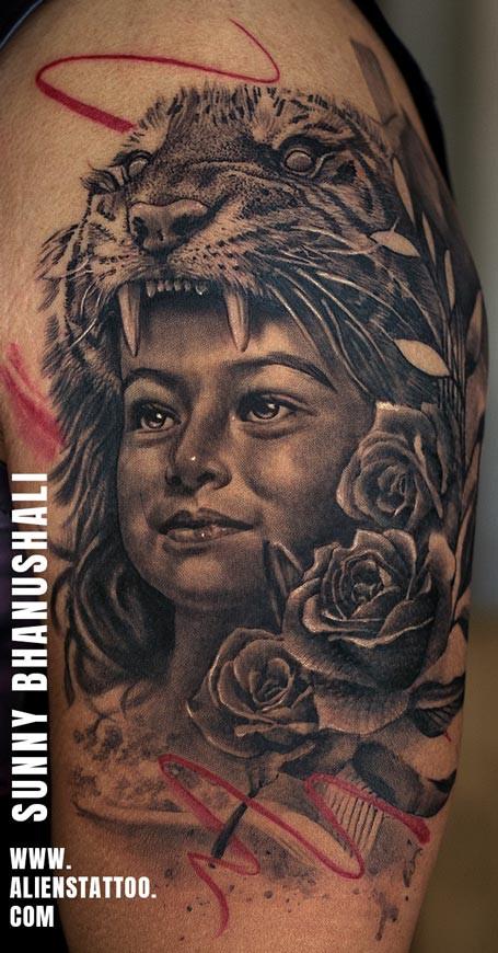 Daughter Portrait Tattoo