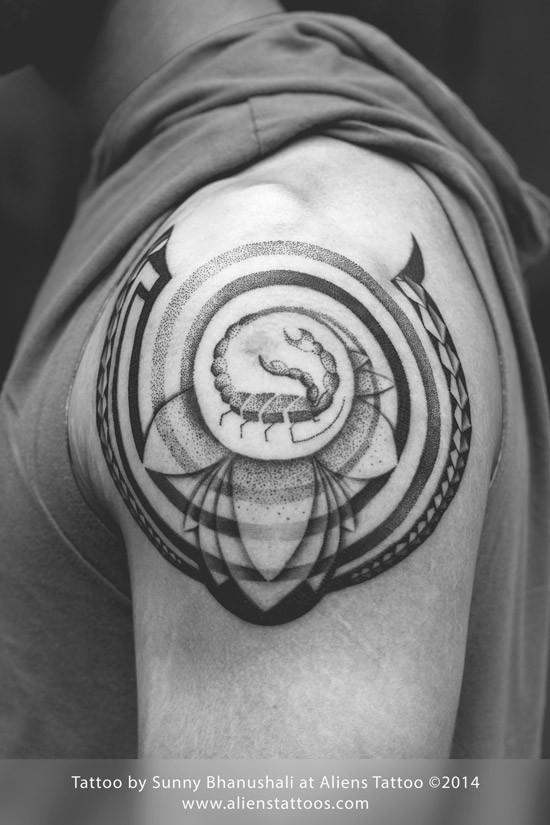 Aliens Tattoo - Scorpio Tattoo  - Zodiac Tattoos