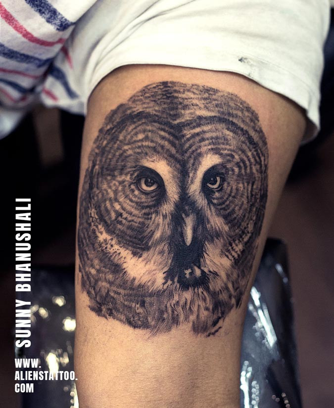 Owl Tattoo -Animal Tattoo - Aliens Tattoo