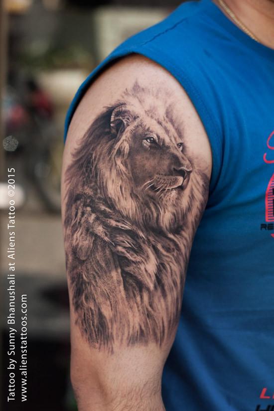 Aliens Tattoo - Leo Tattoo  - Zodiac Tattoos