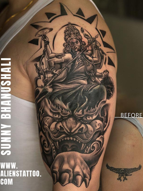 coverup-tattoo-goddess-durga-tattoo-indi