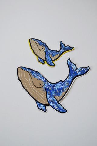 Tea Party Happy Whales
