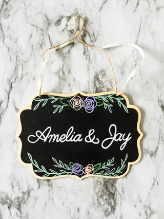 Wedding Couple Name sign