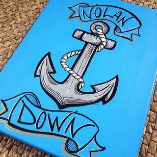 Custom Name Nautical Nursery Art