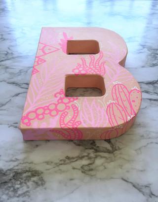 Girls' Bedroom Letter Decoration