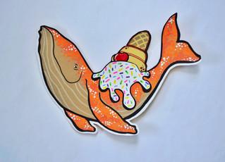 Ice Cream Happy Whale