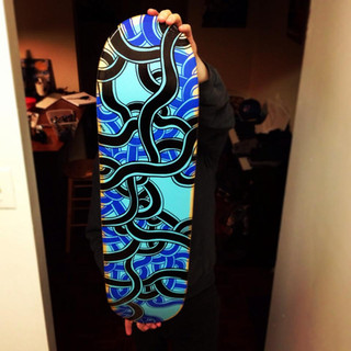 Black & Blue Skateboard