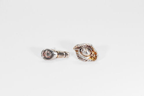 Fierce Earrings Silver