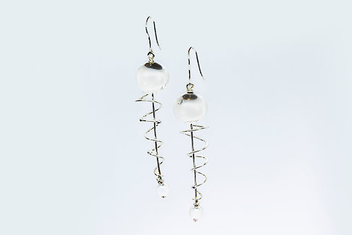 Fear Earrings Silver