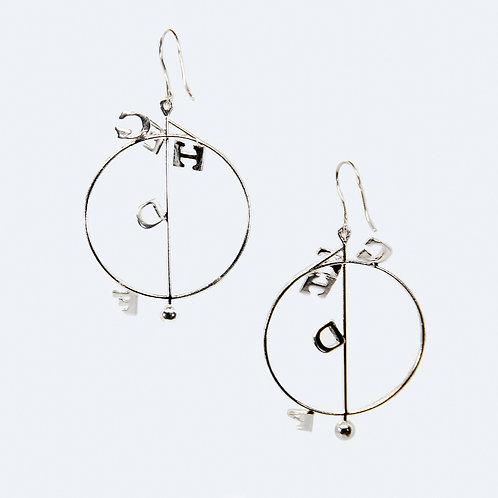 Foolish Earrings II Silver