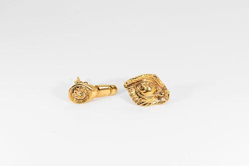 Fierce Earrings Gold