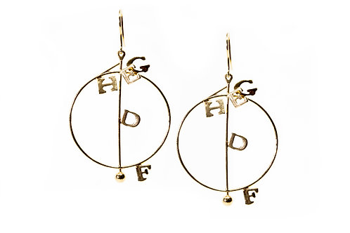 Foolish Earrings II Gold