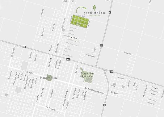 JARDINALES Esperanza - Plano de ubicación