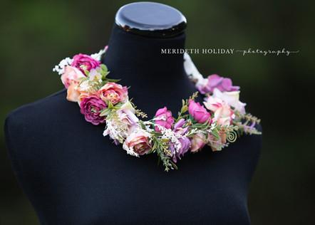 Mauve Floral Crown