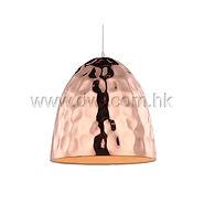 Pendant lamp; red copper lamp