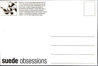 SIS Obsessions Postcard 1999 Back