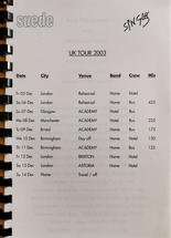 Singles Tour Itinerary December 2003 pg1