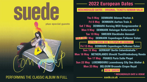 Coming Up European Tour May 2022