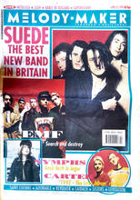 Melody Maker, 25 April 1992 Cover