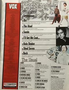 Vox August 1996 Contents