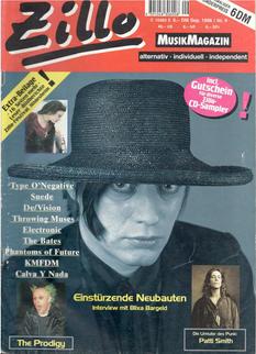 Zillo September 1996 Cover