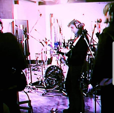 Rare photos of Suede recording Be My God/Art