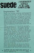 SIS Newsletter September 1992 pg1