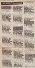 Nottingham GigGuide review of De Monfort gig, January 1995, by Scott Brandom