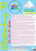 Glastonbury 1993 Poster