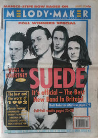 Melody Maker 2 January 1993 Cover