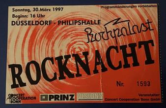 Osterrocknacht Festival 1997 Ticket