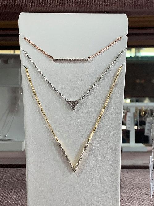 Elle triple layer necklace