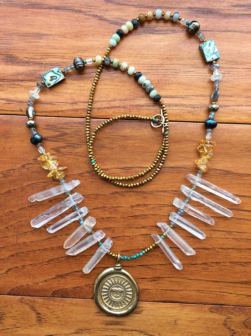 Sun worshiper necklace